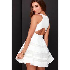 NEW | White Mesh Flare Dress